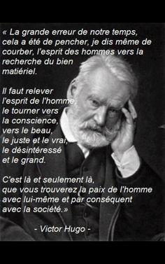 Citation  Victor Hugo   citation français  Idéal pour notre société actuelle : une v