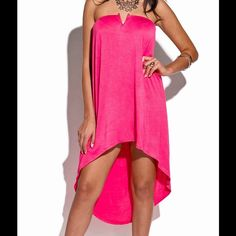 Rosey Coral Strapless Dress #HT-04-HTPNK-L Rosey coral strapless cocktail dress. 95% rayon 5% spandex. Dresses Strapless