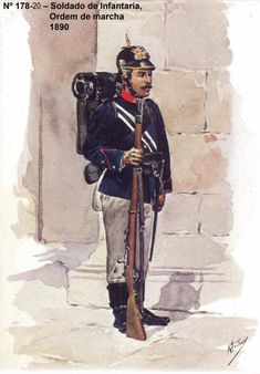 Portuguese Infantry Soldier - Portugal 1890