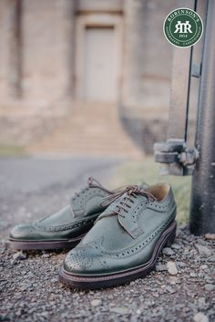 Robinson Andrew Jackson traditional brogues in olive green. Featuring Goodyear welted soles, high-quality grain leather uppers and meticulous craftsmanship. Check out our full range of Robinson footwear today. #greenshoes #robinsonsshoes #grainleather #mensbrogues Benjamin Harrison, Andrew Jackson, Goodyear Welt, Green Shoes, Shoe Sale, Brogues, Shoe Brands, Designer Shoes