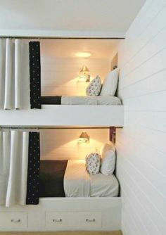 Fabulous Bunk Bed Ideas To Inspire You Modern Bunk Beds Design Idea For Small Room That Have Wonderful. Fabulous Bunk Bed Ideas To Inspire You The Most Amazing Diy Bunk Beds With How Tos Of The Entire Process. Bunk Bed Rooms, Bunk Beds Built In, Modern Bunk Beds, Bedroom Loft, Bedroom Decor, Kids Bedroom, Bedroom Curtains, Built In Beds For Kids, Bunk Bed Decor