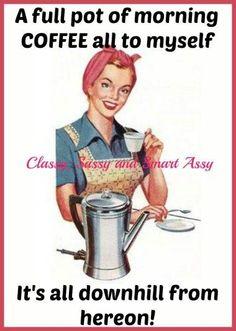 coffee pot on.
