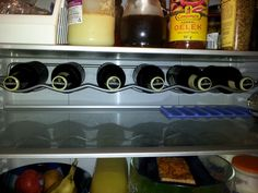 Great to have a Guinness rack in the refrigerator!