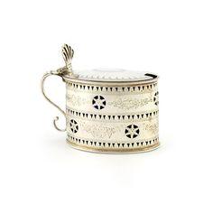 A George III silver mustard pot London 1788 by Hester Bateman Wallis, Georgian, Mustard, Pots, London, Tableware, Silver, Home, Dinnerware