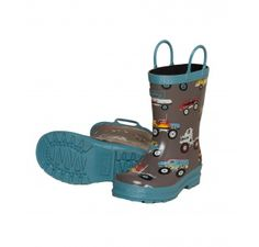 Hatley Monster Trucks Wellies £21.95 from Wellies and Worms. Blue and grey boys welly boots.