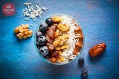 #Schichtdessert  #Sweet #Bowl #Dessert, Kleiner Augenblick, #Superfood,  Mousse au Chocolat #Blaubeeren #Walnüsse