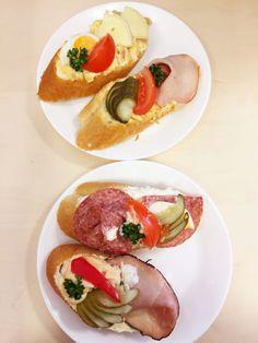 Czech food! (Open faced sandwiches in Prague)