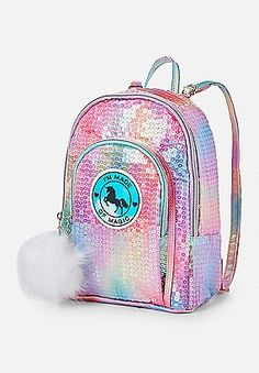 Unicorn Sequin Mini Backpack | Justice
