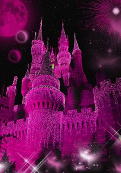 Castle Fantasy BKG 6 - Magenta by WDWParksGal-Stock