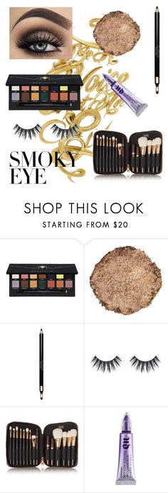 """""""Smoky eye 👁"""" by irissa997 ❤ liked on Polyvore featuring beauty, Anastasia Beverly Hills, Illamasqua, Clarins, Tom Ford and Urban Decay"""