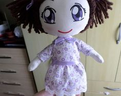Boneca menina cotonete
