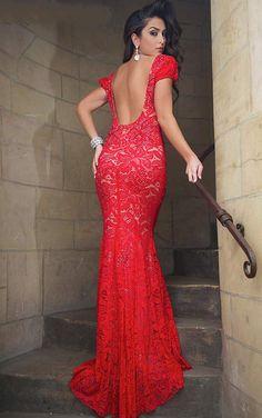 Prom Dress, 2014Prom Dresses,Sexy Sheath Polyester Jewel Red Dress