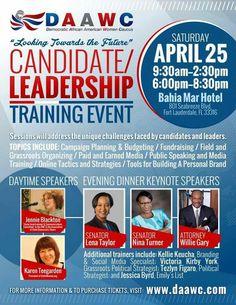 UniteWomen.org President, Karen Teegarden, joins a stellar group of speakers at the Democratic African American Women Caucus (DAAWC) Leadership event in Ft. Lauderdale, Florida. Details and register here: https://daawc.com/april-2015-leadership-trainingdinner/
