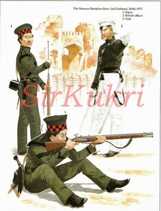 "SirKukri - The Gurkha soldiers of The Sirmoor Battalion, the second battalion of Gurkhas that was raised, the first being The Nasiri Battalion. Later the Sirmoor Battalion became the 2nd Gurkhas...2nd King Edward VII`s Own Gurkha Rifles. During the Indian Mutiny of 1857 the Gurkhas gained upmost respect of both the Indian mutiners and the British Officers in command of the Gurkhas, playing a crucial role in securing British domination of India.  ""In the Indian Mutiny of 1857-1858 the 2nd…"