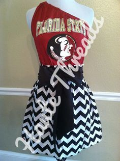 Florida State Seminoles Football College gameday dress by hautethreadsboutique, $75.00 - www.hautethreadsboutique.com