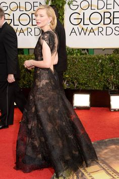 ELLE's 10 Best Dressed at the 2014 Golden Globes: Cate Blanchett, Armani Prive