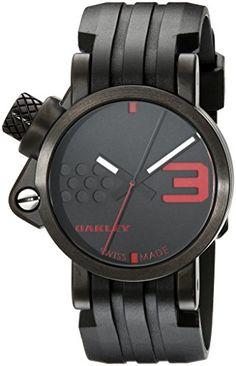 00644ae8fd9  oakleywatches Oakley Men s 10-033 Unobtainium Strap Edition Watch Check  https