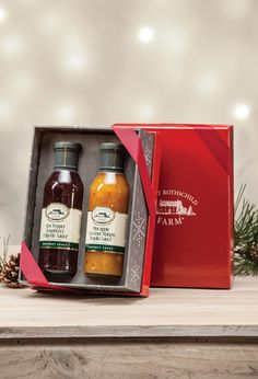 Gourmet Sauce Duo Gift Set: Includes our popular Pineapple Coconut Mango Tequila Sauce & Hot Pepper Raspberry Chipotle Sauce. $19.99