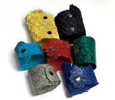 Koi bracelets now online. Sustainable carp fish leather!