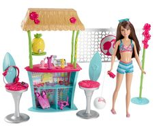 Amazon.com: Barbie Sisters Skipper Doll and Tiki Hut Playset: Toys & Games