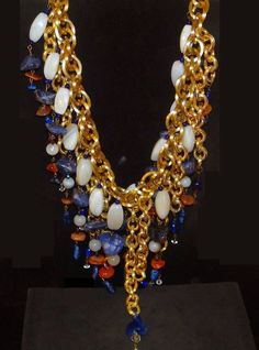 collier perle oversize