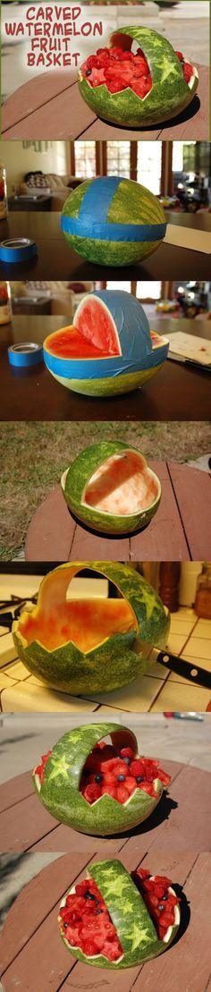 Carved Watermelon Basket-M