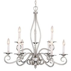 Shandy 9-Light Pewter Chandelier. Lowes..$440