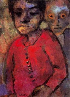 Emil Nolde (1867-1956) werd voor 1 jaar lid van Die Brücke in 1906. Hij was al een erkend kunstenaar en ouder dan de anderen, toen hij door Schmidt-Rottluff werd voorgesteld aan de groep kunstenaars van Die Brücke. Zij hadden een tentoonstelling van hem gezien en waren diep onder de indruk van zijn onstuimige kleuren. Zij herkenden een artistieke verwantschap die gelijkgestemde doelstellingen veronderstelden.