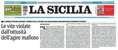 """Andrea Bisicchia sul quotidiano """"La Sicilia"""" a proposito del libro """"Liberi Tutti"""" di Pietro Grasso e dello spettacolo """"Dopo Il Silenzio"""" tratto dallo stesso libro."""