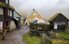 Village idyll in Gasadalur, Faroe Islands