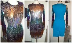 longsleeve sequins dress