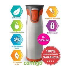 Contigo Aria termosz 600 ml, szürke-narancssárga 600ml kulacsok,termoszok mindössze 12230 Ft-ért. További kedvezményekért látogass el az Egészségboltba!