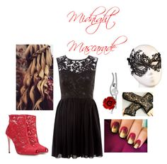 """""""Midnight Mascarade"""" by oliviapink2021 on Polyvore featuring Mela Loves London, Dolce&Gabbana and Bling Jewelry"""