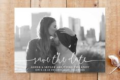 """Boho Love"" - Full-Bleed Photo, Modern Save The Date Cards in Lily by Christine Taylor."