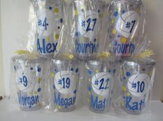 Volleyball team personalized acrylic tumblers any by DottedDesigns, $66.00