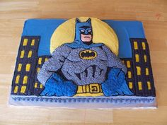 Batman Birthday Birthday boy's mom wanted his cake to match his decorations and be the centerpiece of the party. The birthday boy...