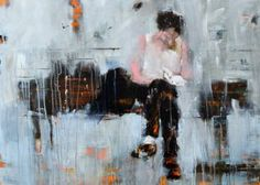 "Saatchi Art Artist Matteo Cassina; Painting, ""A man and his book"" #art"