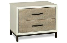 Sydney 2-Drawer Nightstand, White/Elm Now: $511.00 Was: $639.00 I thought this was from West Elm, but it's just the name. I like this one too in the Master Bedroom
