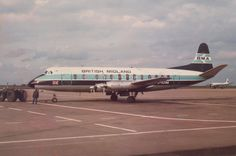 1958 Vickers 813 Viscount G-AZNB - British Midland Airways - East Midlands Airport early 1980s