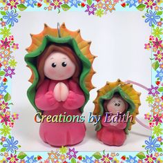 Tutorial de como hacer una Virgen de Guadalupe en porcelana fria. La misma tecnica puedes usar para prepararla en pasta de goma o fondant.