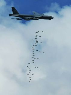 "B-52 ""giving birth"" over the skies of Afghanistan!   Look Shaheed, it's a flock of birds!"