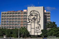 The ministry of the interior with large Che Guevara portrait
