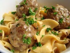 Super Fast and Easy Swedish Meatballs. This was delicious! The meatballs were very soft! I added salt and pepper that wasn't mentioned in the recipe. I made lots more gravy than the recipe called for. I used two 4.5 oz. packs of dry gravy mix. Each made 3 1/2 cups of gravy. I used about 5 cups of gravy and added 2 cups of sour cream. It was just the right amount of sauce. I let the meat mixture sit overnight so the stuffing mix had time to absorb the liquid. This recipe makes LOTS of food!