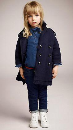 children | Merino Wool Cotton Knitted Coat | Burberry