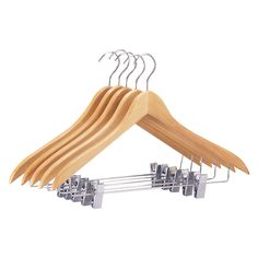 Organize It All 30 Pack of Neu Home Suit/Jacket Hanger with Clips Wooden Pant Hangers, Padded Hangers, Velvet Hangers, Best Clothes Hangers, Plastic Clothes Hangers, Clothes Hooks, Jacket Hanger, Coat Hanger