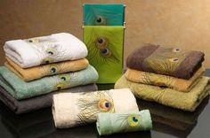Anali Peacock Linen Guest Towel - Set of 4 Owl Bathroom Decor, Peacock Bathroom, Peacock Nursery, Bathroom Ideas, Linen Towels, Bath Towels, Bathroom Towels, Wall Decor Amazon, Peacock Decor