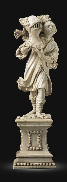 ATTRIBUTED TO DIO CLAUDIO BEISSONAT (ACTIVE SECOND HALF 17TH CENTURY) ITALIAN, NAPLES, LATE 17TH CENTURY MOOR CARRYING A HELMET FROM AN EQUE...