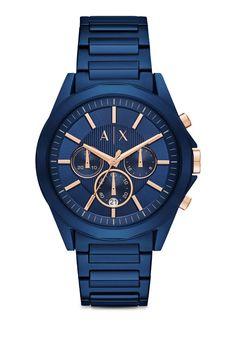 AX Drexler Blue Stainless Steel Watch AX260 1  389 e91bf334f4a90