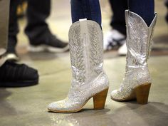Miranda Lambert's silver cowboy boots will be available this Fall (her line)! Cannot wait to get my hands on those!!