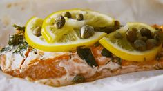 """You can bake salmon or other proteins and vegetables in a parchment paper packet (also called """"en papillote"""") for a flavorful, low-mess meal. Watch as we fold the packet and share our secrets for seasoning the salmon to make a delicious dinner."""